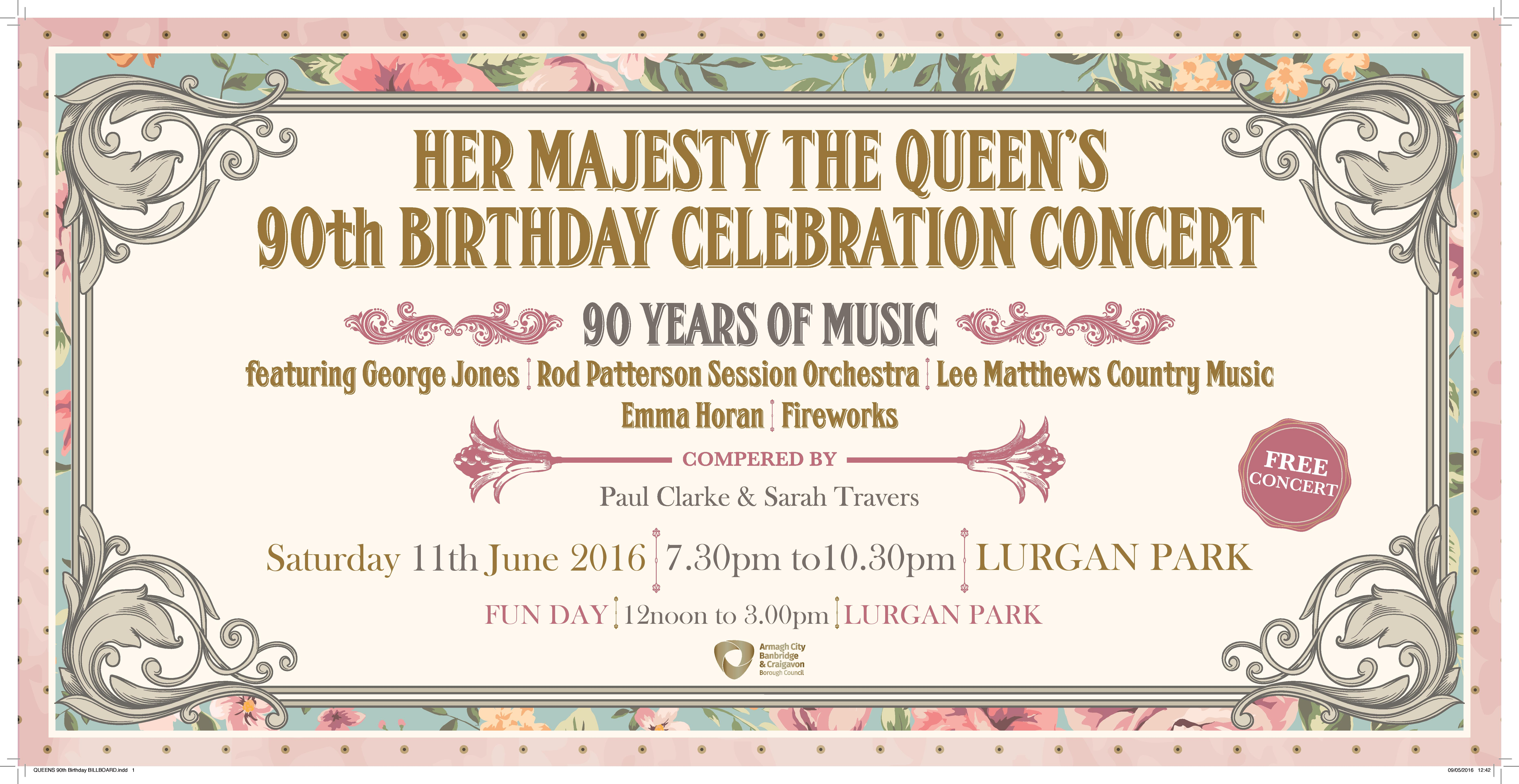 Queens 90th Birthday Billboard