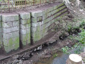 The damaged 18th century lock cill at the popular Moneypenny's Lock House which will be upgraded over the next few weeks.