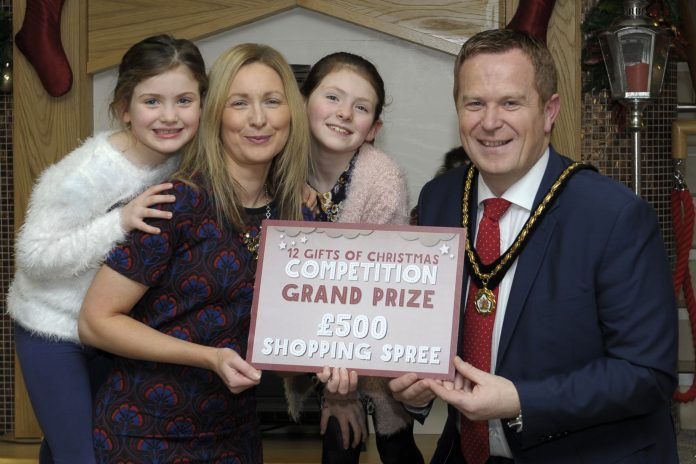armagh city banbridge craigavon borough council deputy lord mayor cllr paul greenfield presented the 12 gifts of christmas competition grand prize of - The 12 Gifts Of Christmas