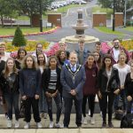 Ruelle exchange students and Lord Mayor