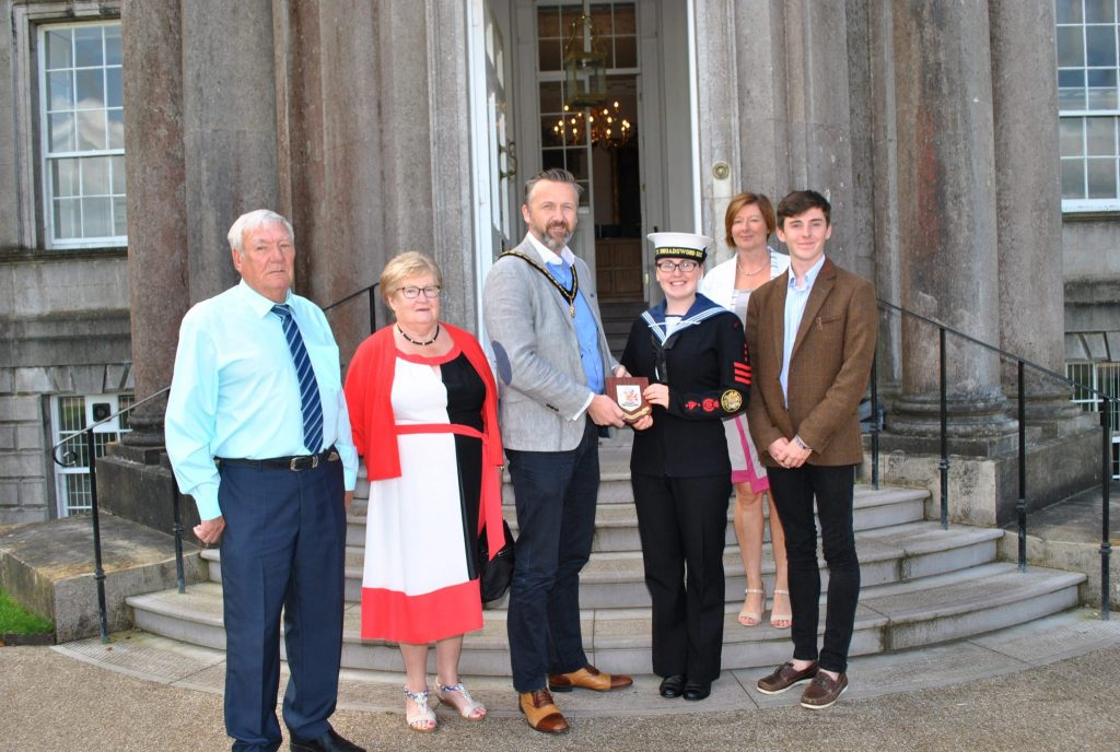Deputy Lord Mayor with Laura Hampton
