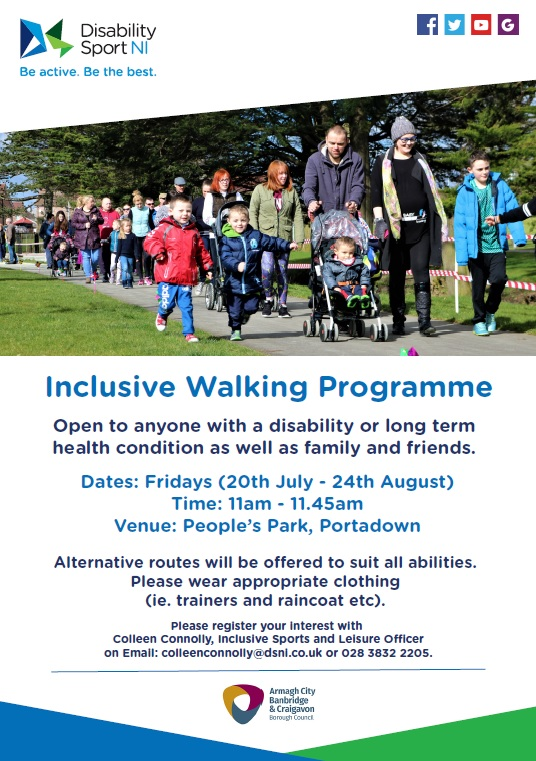 Inclusive Walking Programme In Portadown Peoples Park