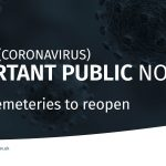 Public cemeteries to reopen