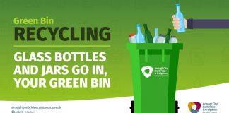 Glass recycling in Green Bins