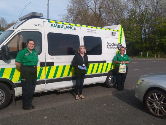 Craigavon & Banbridge Volunteer Centre is working in partnership with St John Ambulance volunteers to deliver PPE