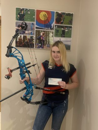 Sinead Byrne, Top Up Tier 2 Bursary, Archery