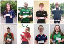 A selection of winners of the ABC Sports Bursary awards