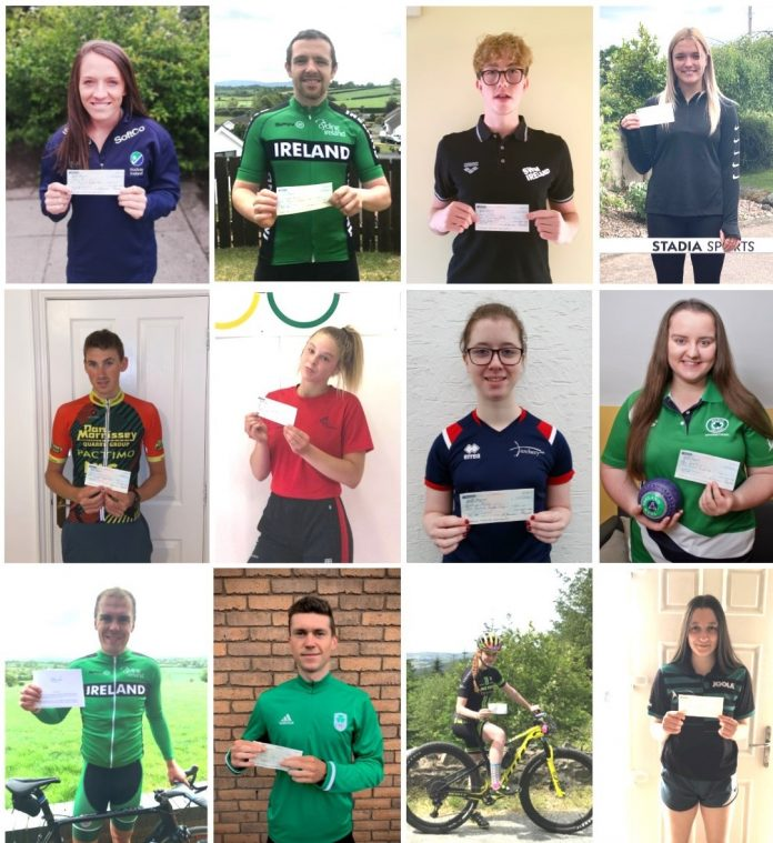 A selection of winners of the ABC Sports Bursary awards