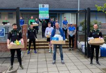 Volunteers making deliveries to people in Armagh Neighbourhood Renewal Areas