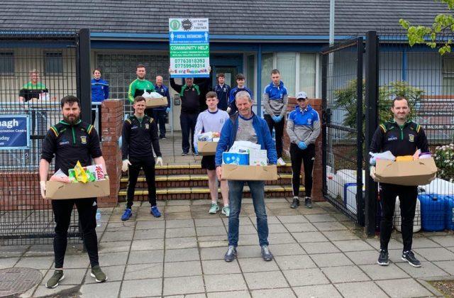Volunteers making deliveries to people in Armagh Neighbourhood Renewal Areas