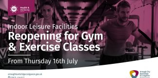 Gyms and Exercise Classes reopening from Thursday 16 July