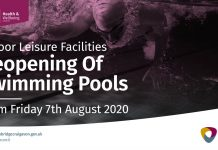 Swimming pools reopening from Friday 7th August