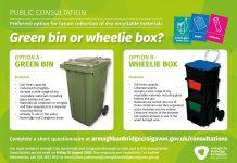 Green bin wheelie box