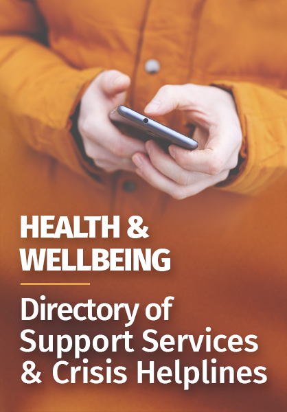 Directory of support services and crisis helplines