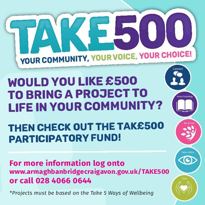 Flyer explaining details about the TAK£500 campaign