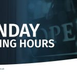 graphic which says Sunday trading hours