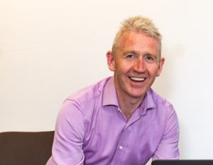 Picture of launch event guest speaker, Patrick McAliskey