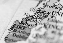 Map depicting UK and Ireland