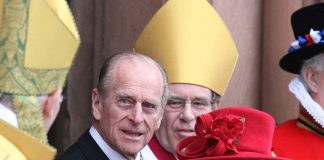 HRH Queen Elizabeth and Prince Philip, Royal Maundy Service at St Patrick's COI Cathedral in Armagh, 20 March 2008.