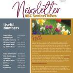 Front cover of ABC Seniors Newsletter