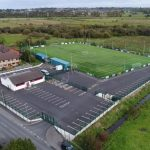 aerial picture of a football pitch